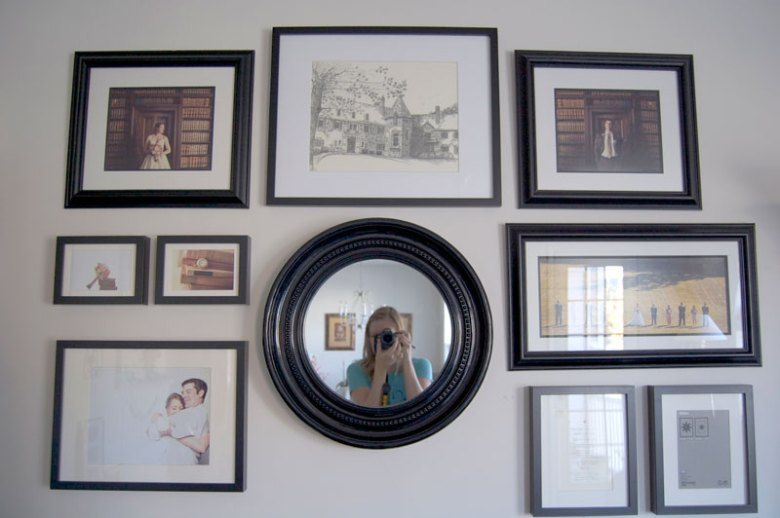 Photo display for wedding photos